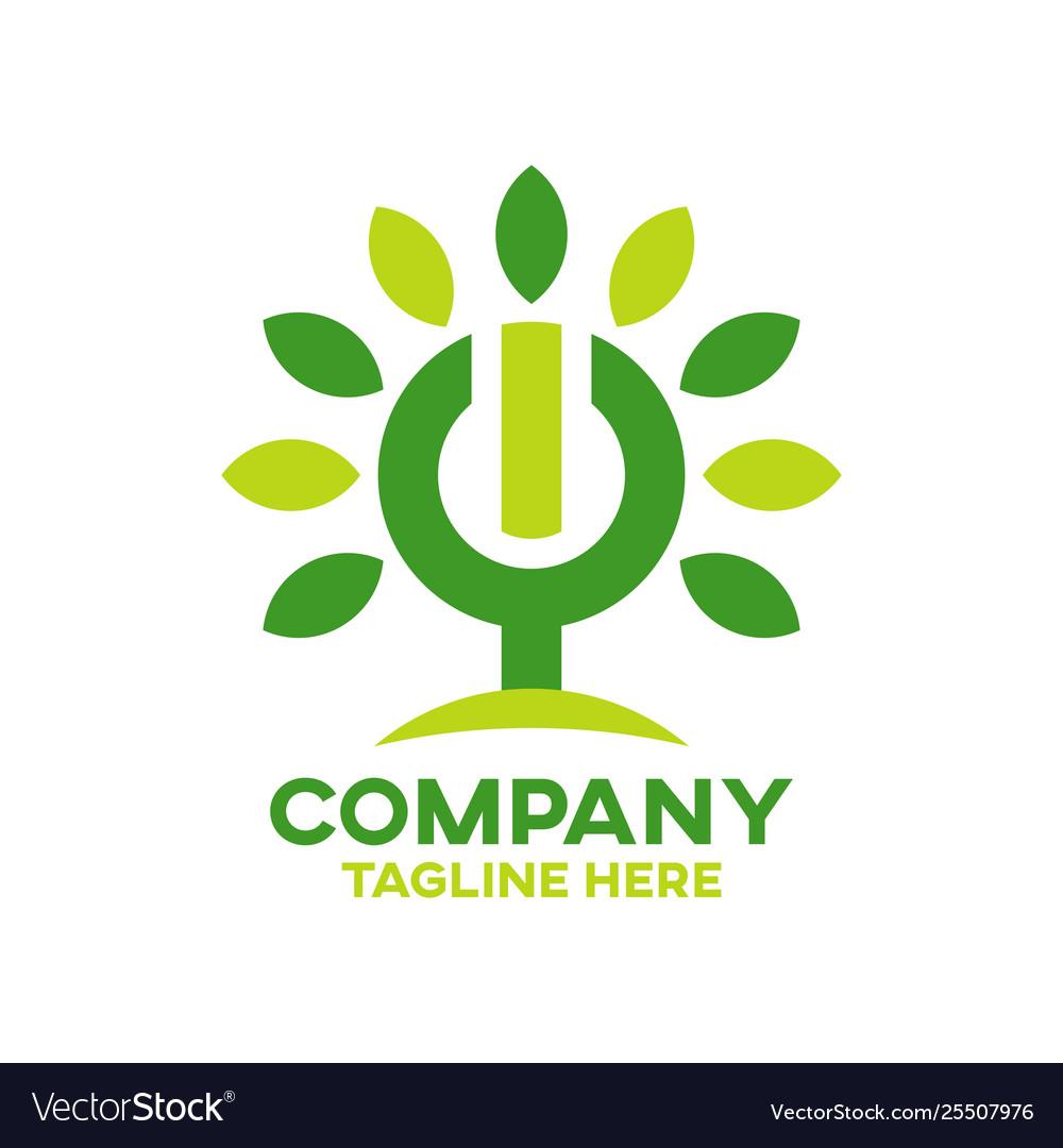 Modern energy tree logo
