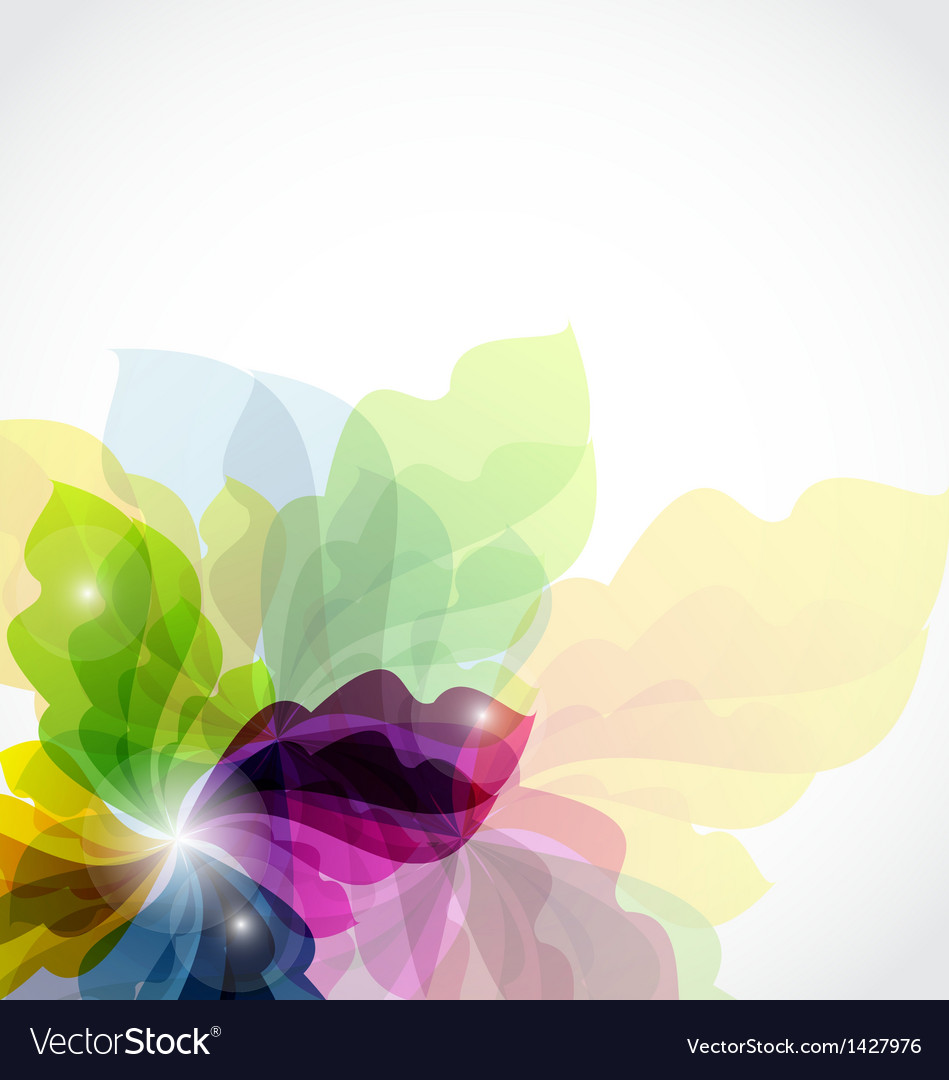 Modern transparent floral background