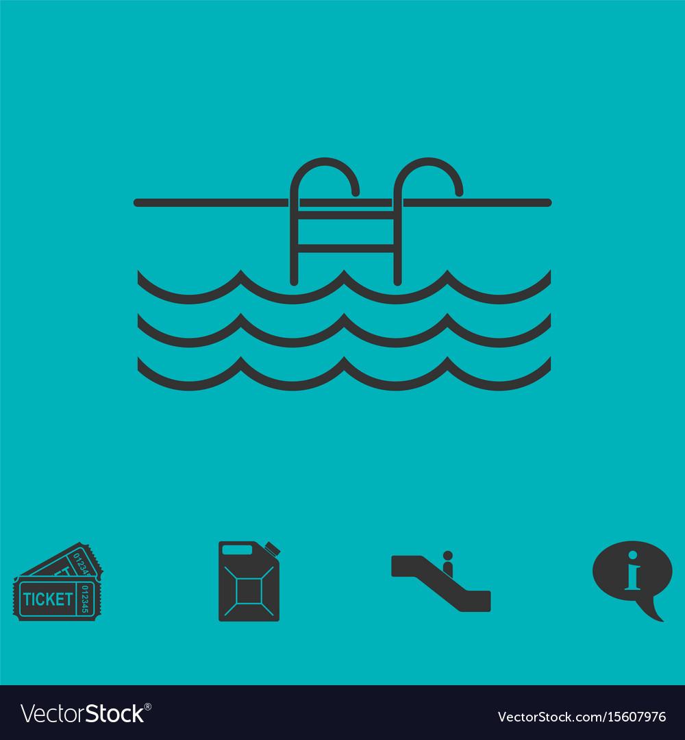 Pool icon flat vector image