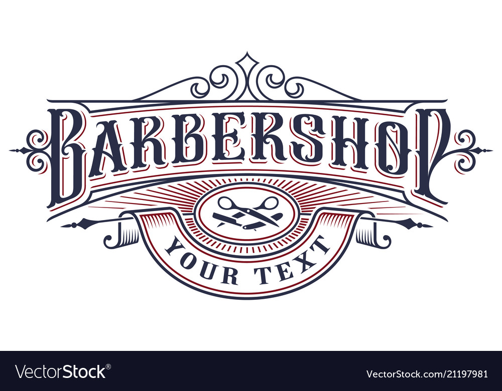 Barbershop logo design on the white background