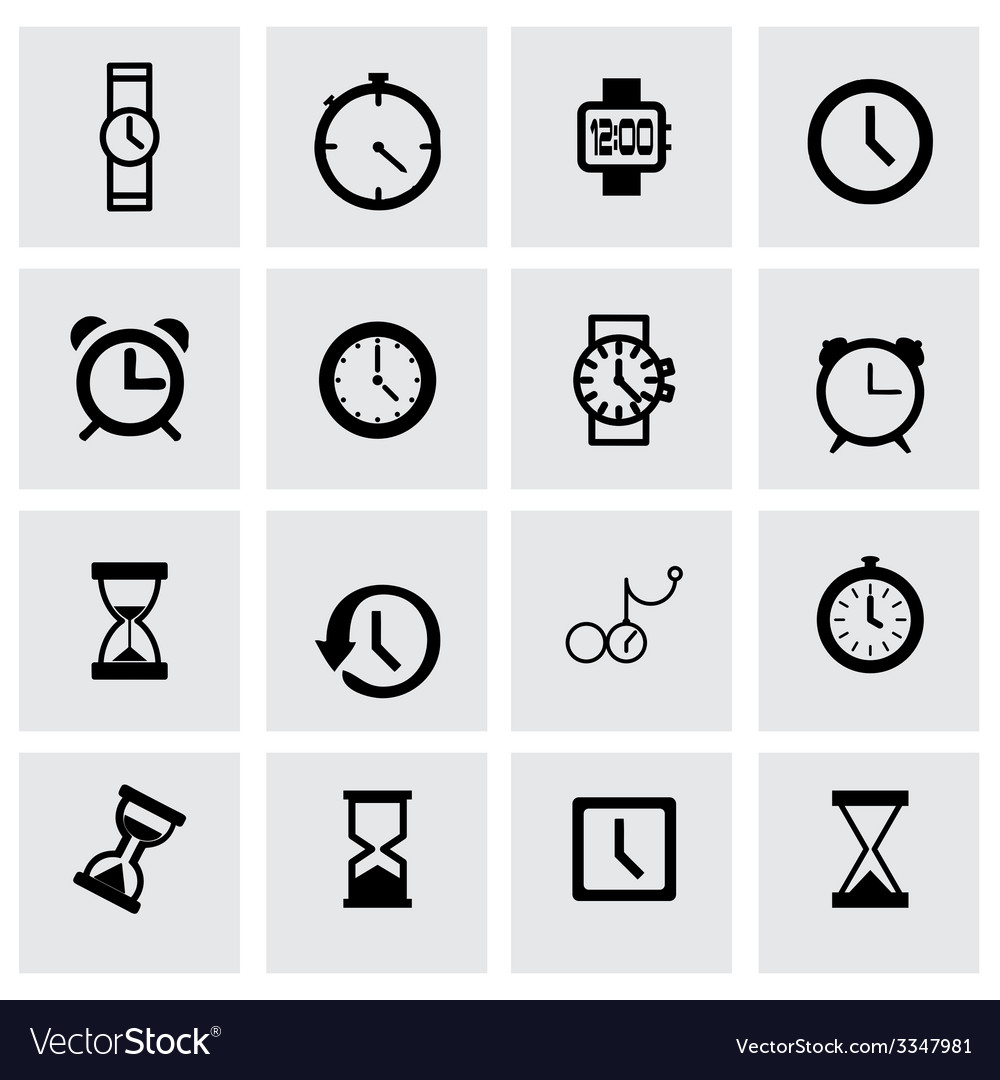 Clock icon set
