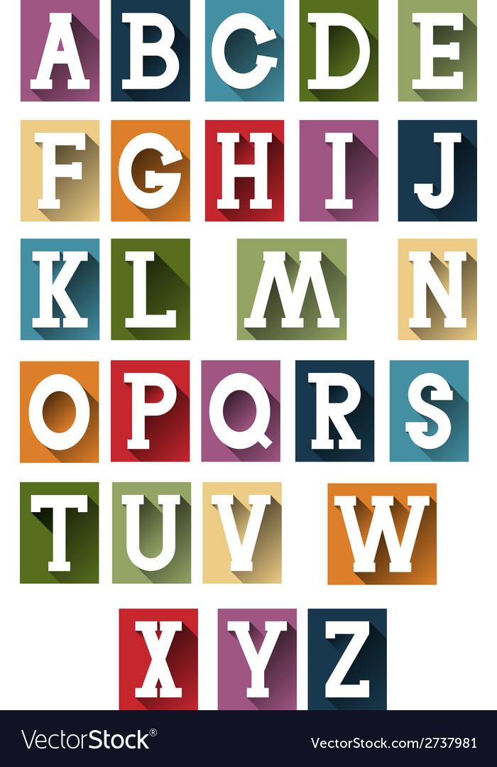 Colorful retro alphabet