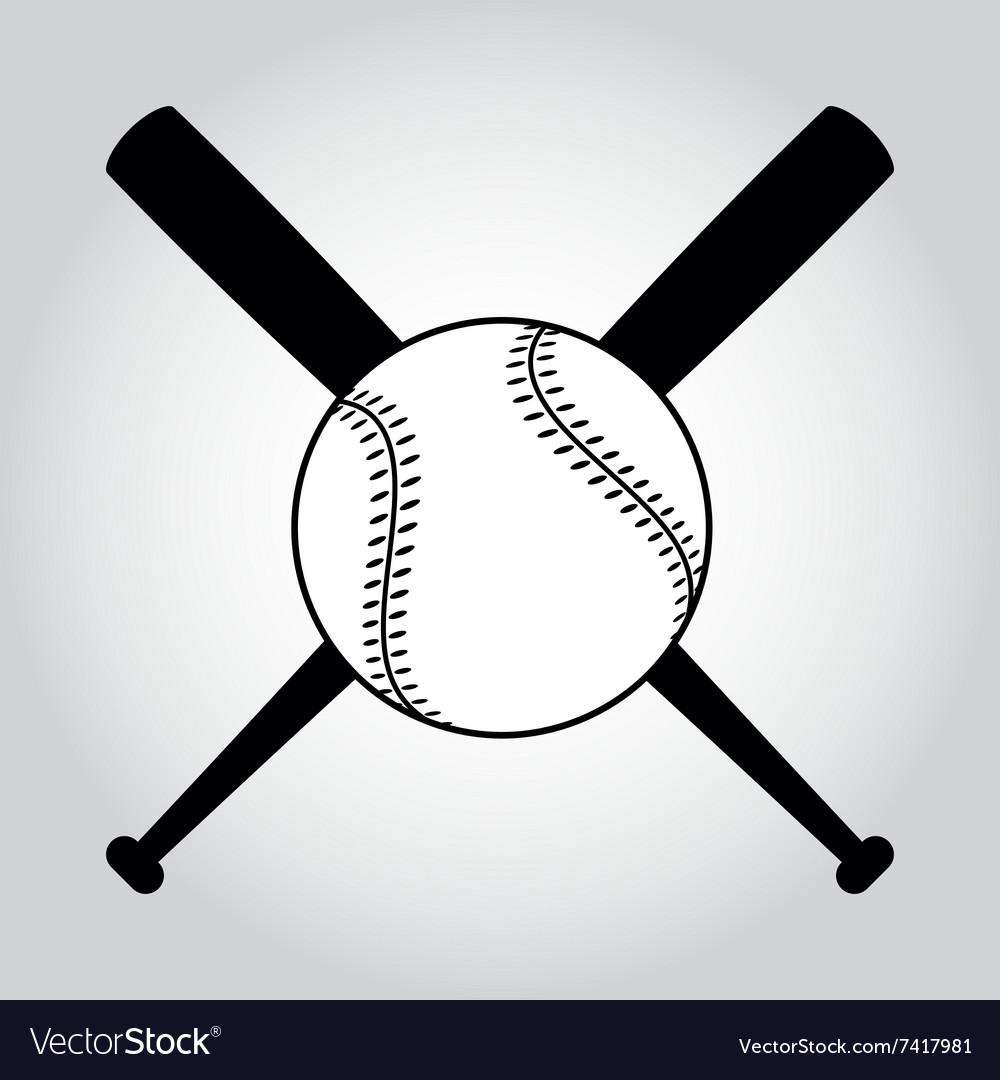 Wooden baseball bat and ball realistic vector Vector ...  |Baseball Bat And Ball Vector