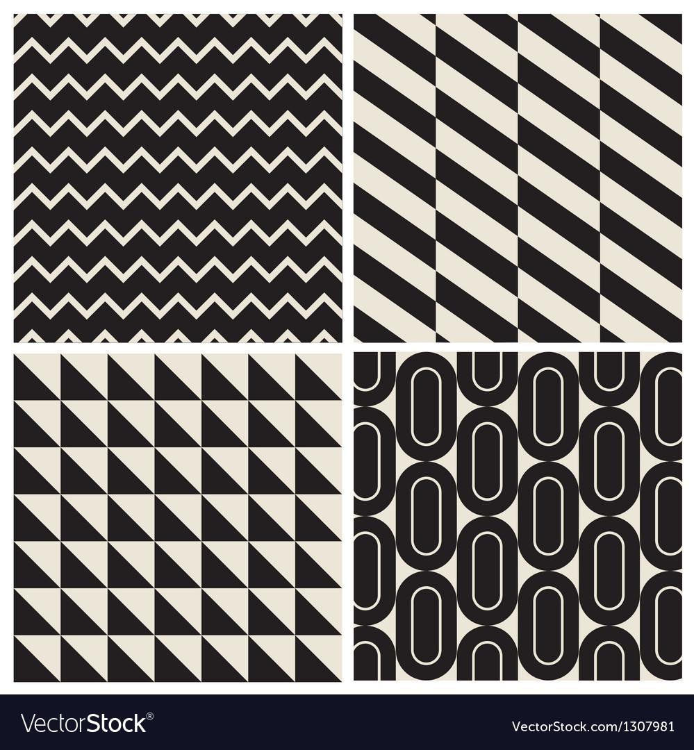 Geometric pattern background set
