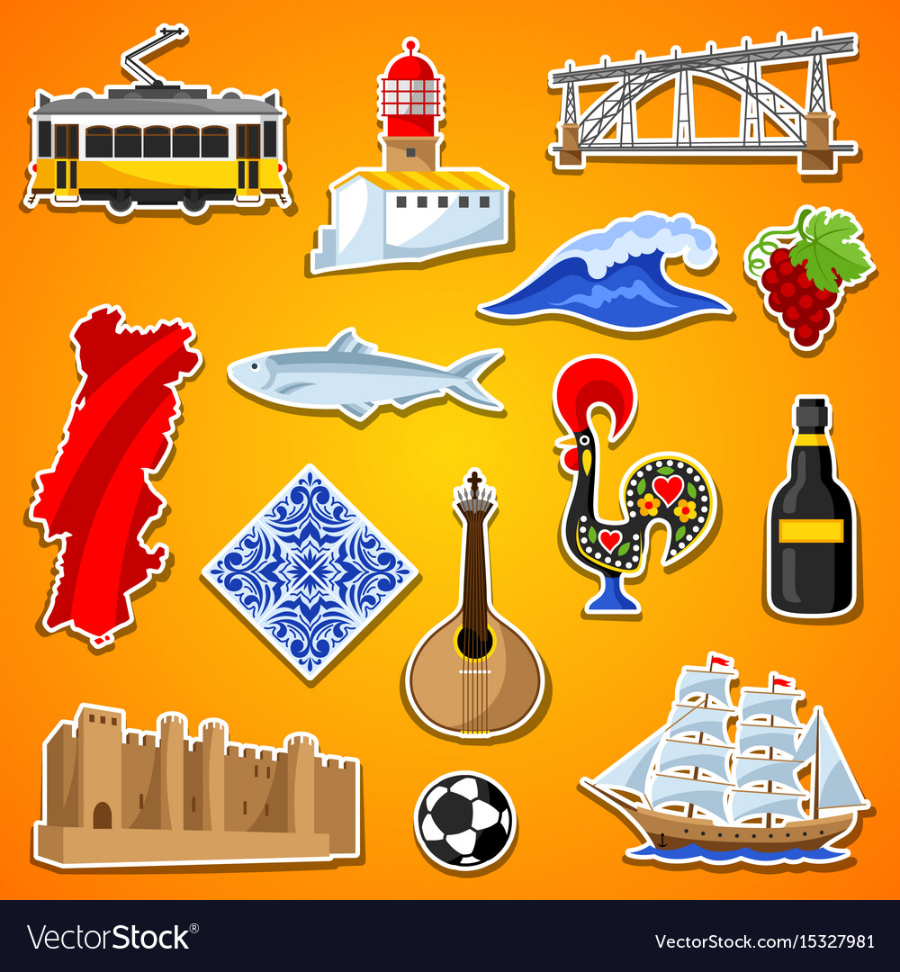 Portugal stickers set portuguese national