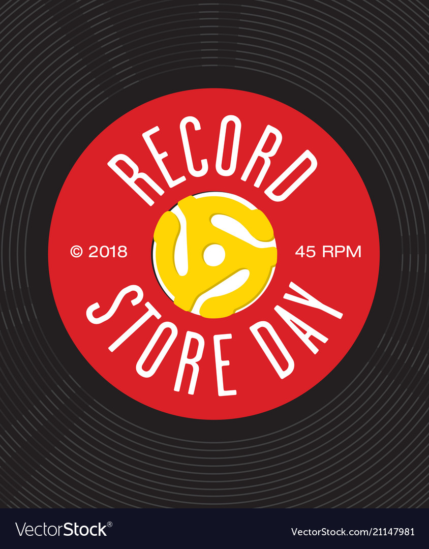 Record store day badge or emblem design