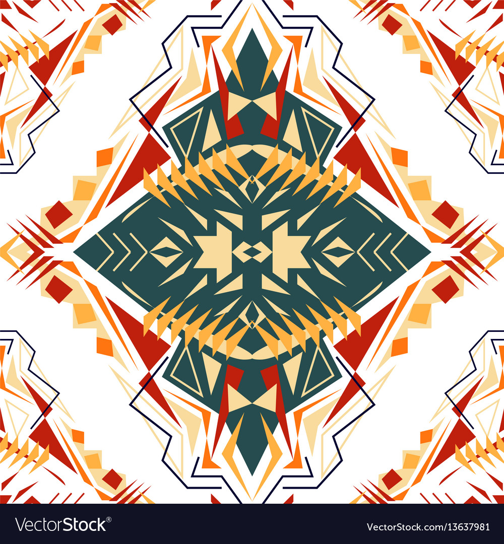 Seamless texture tribal geometric pattern aztec