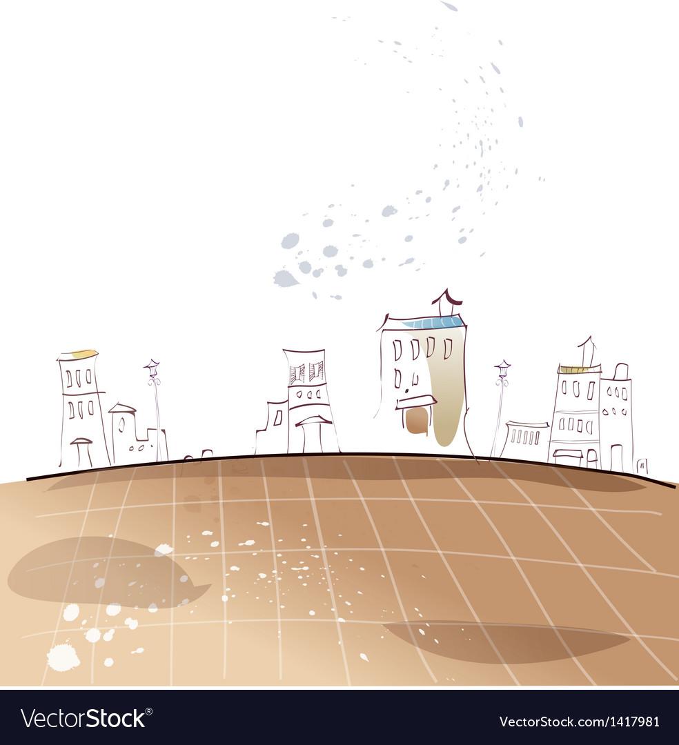 Stylized Townscape Sketch