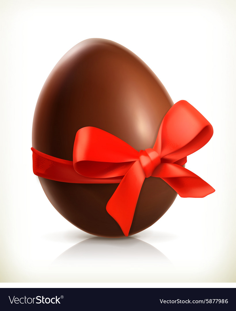 Chocolate easter egg icon
