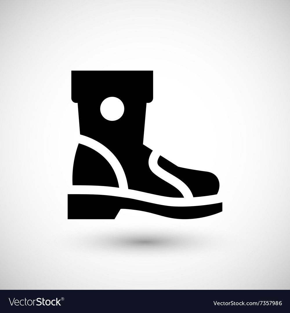 Industrial boot icon vector image