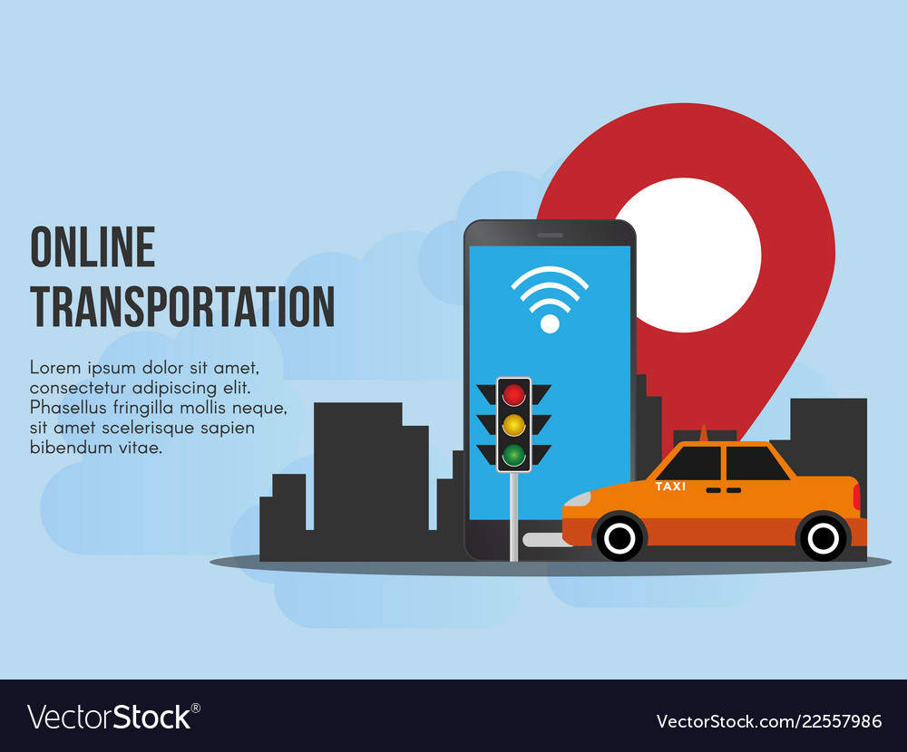 Online transportation concept ready to use