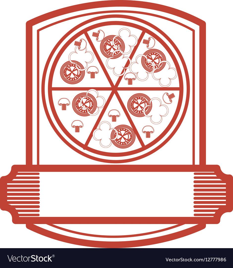 Pizza restaurant emblem icon
