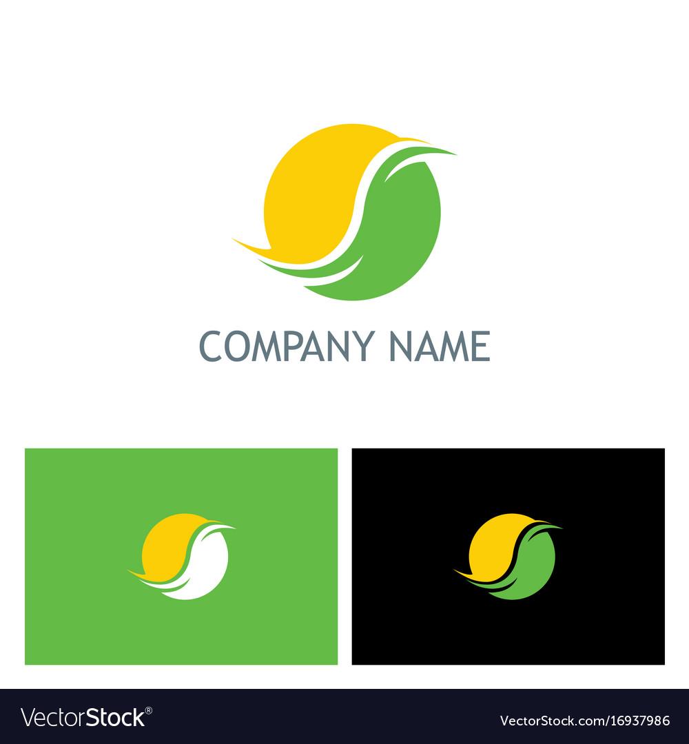 Round abstract globe company logo