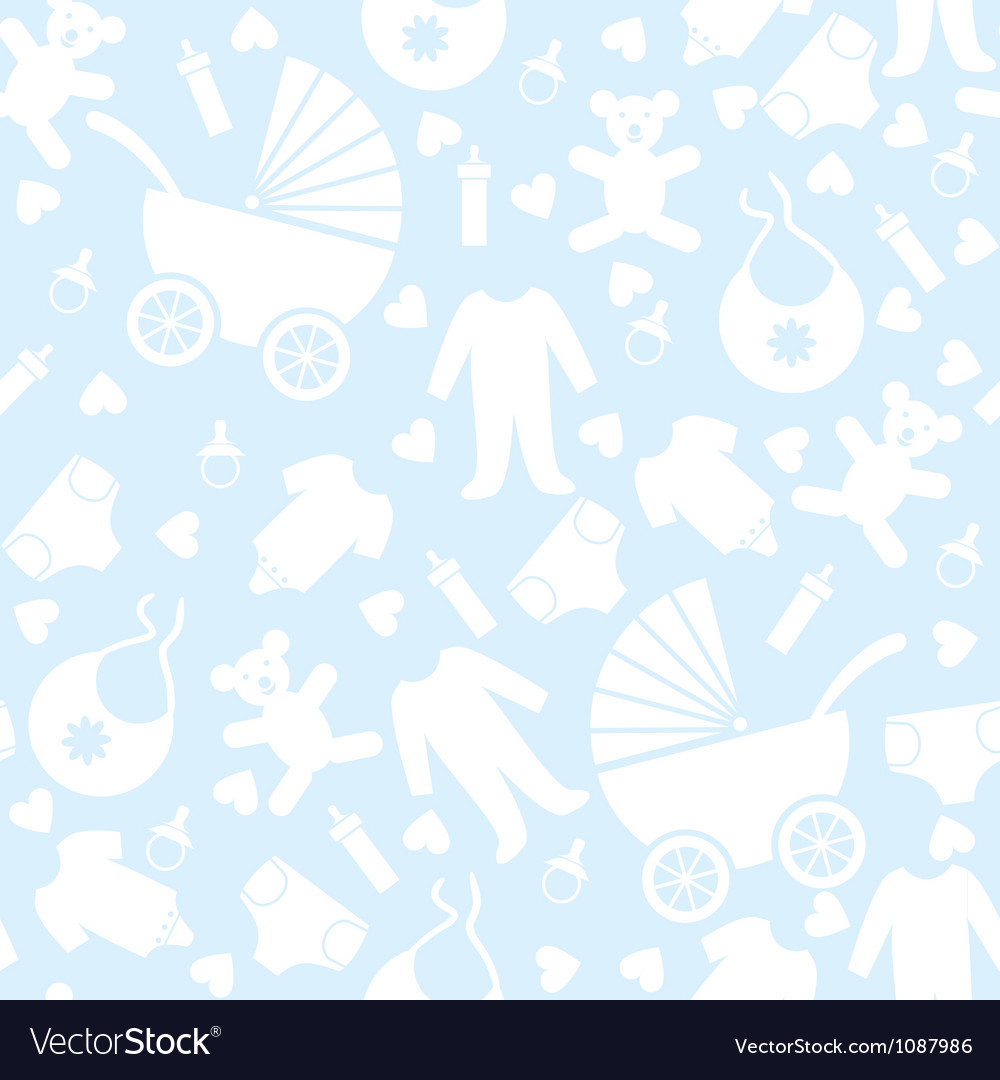 seamless blue baby background royalty free vector image