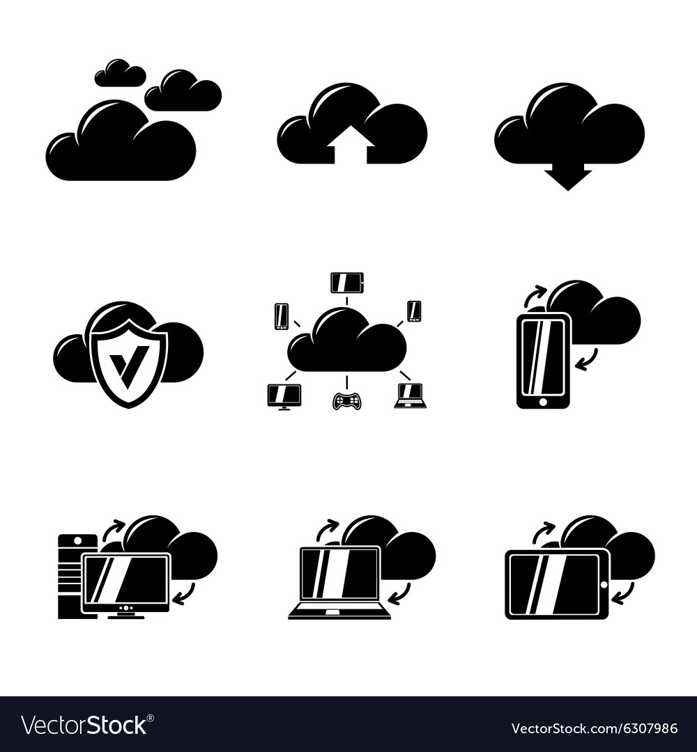 Set of Cloud Computing icons