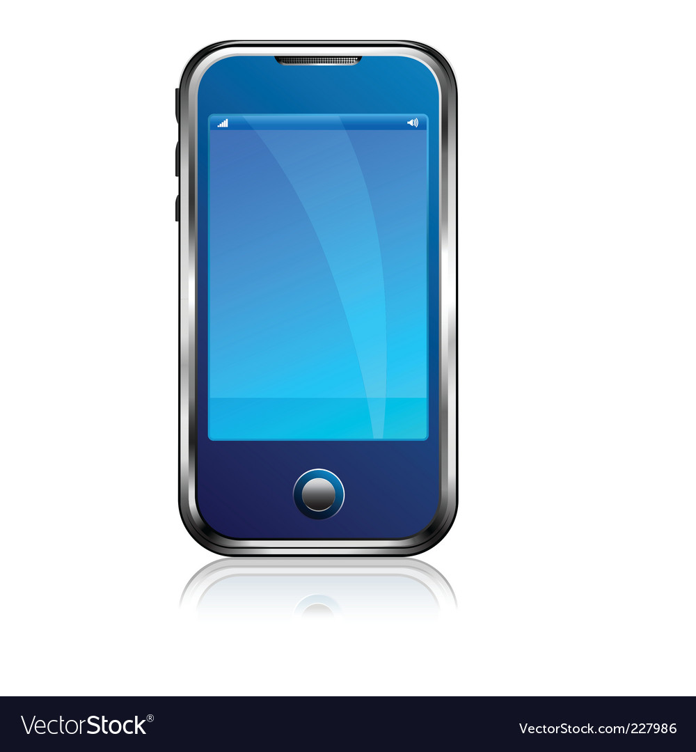 Stylish blue cell phone vector image