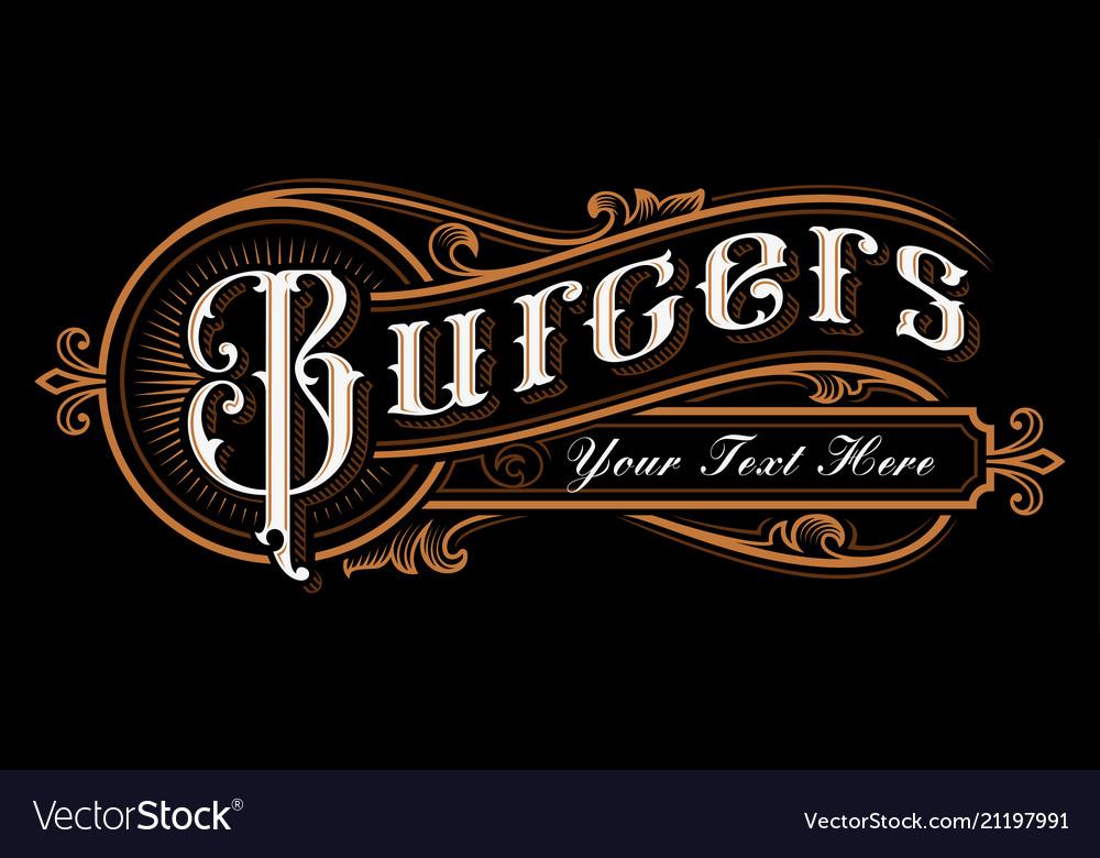 Burgers lettering design