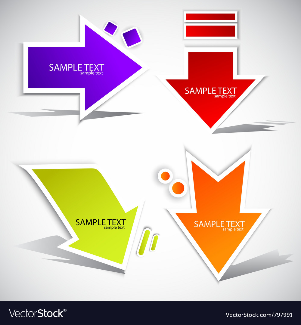 Colorful paper arrow for speech vector image