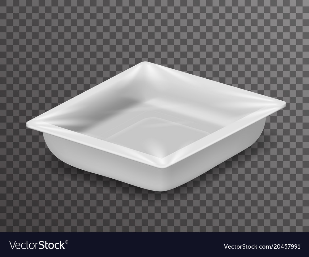 Disposable food pack isolated isometric 3d vector image