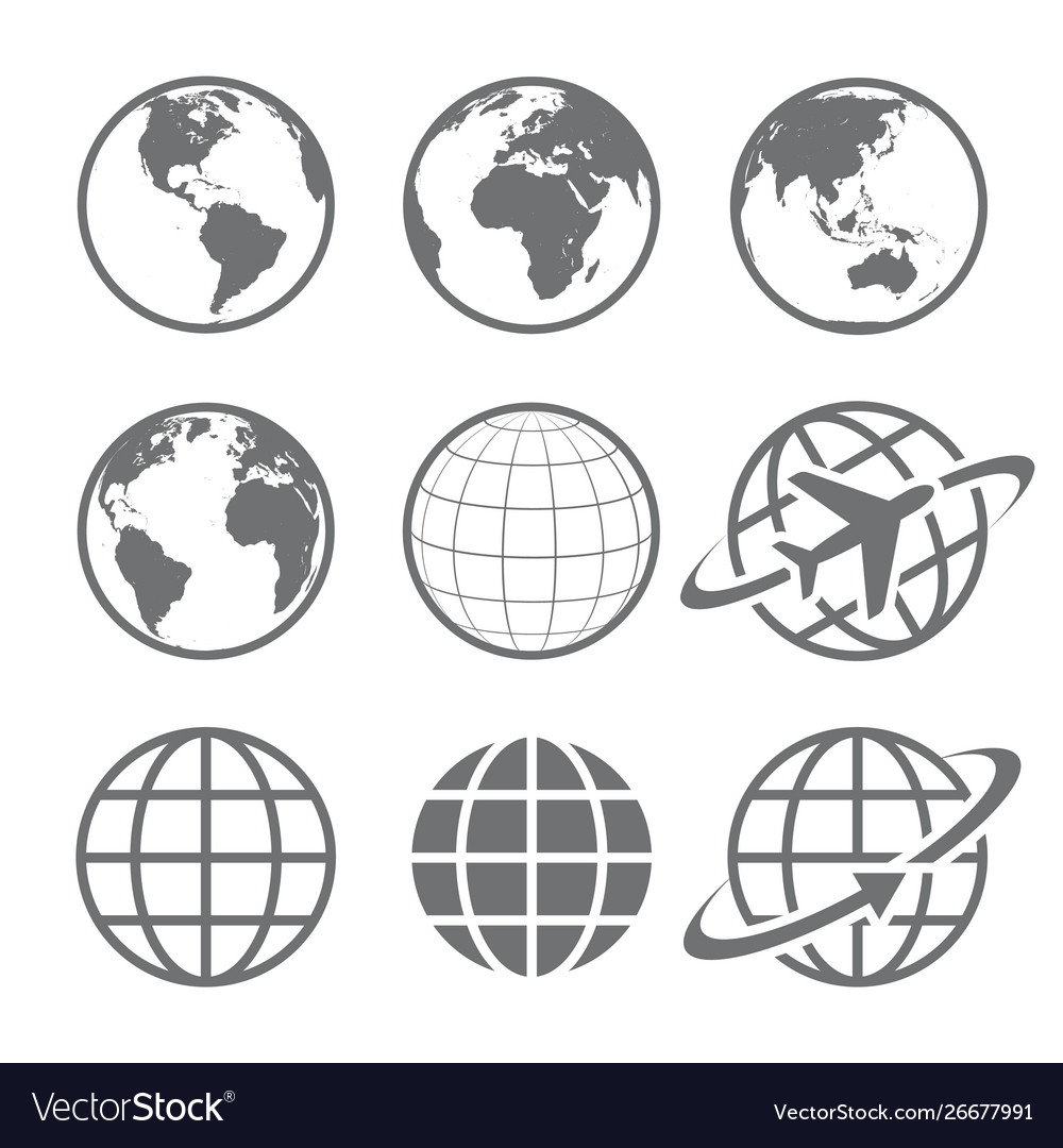 Globe earth icons image