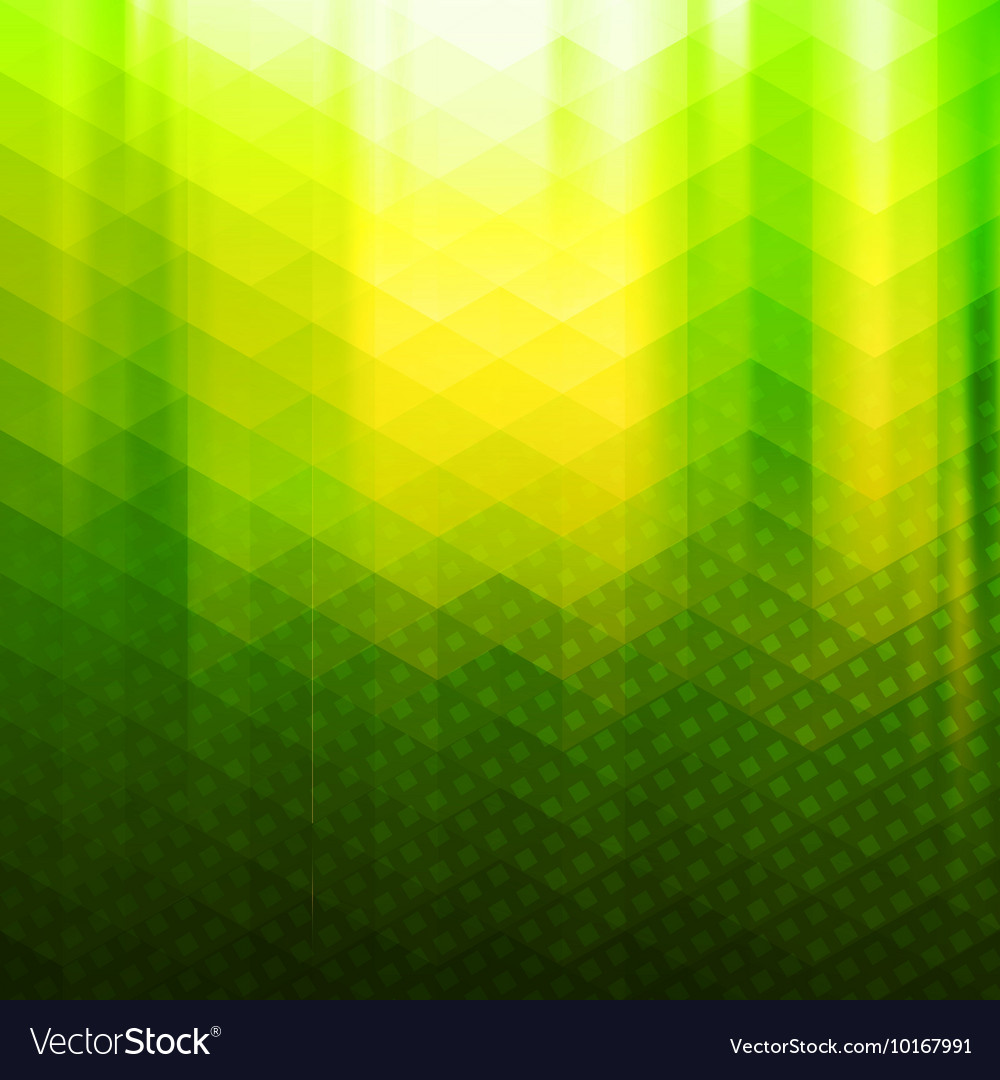 Green-yellow color polygonal background Royalty Free Vector