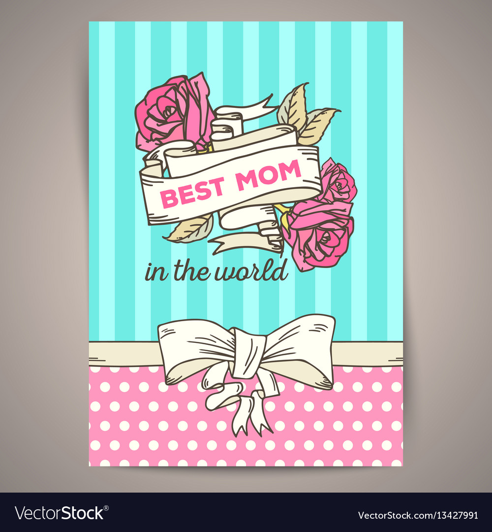Happy mothers day vintage card