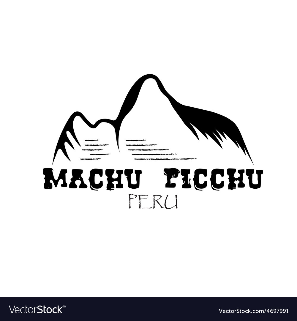 machu picchu mountain of peru design template vector image