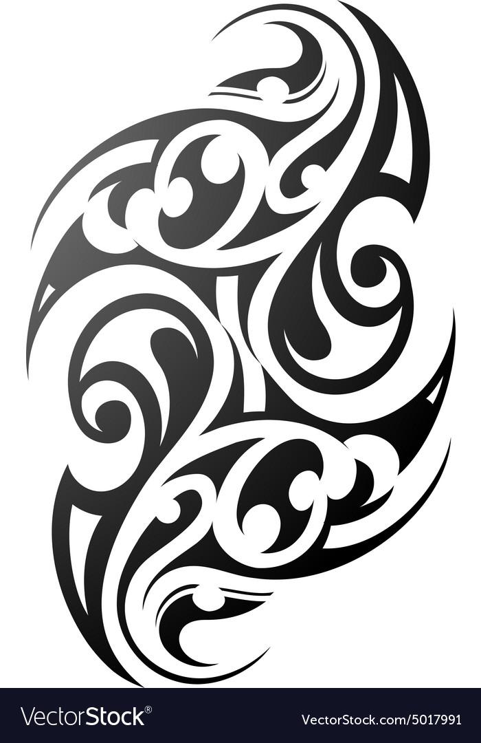 Maori style arm tattoo