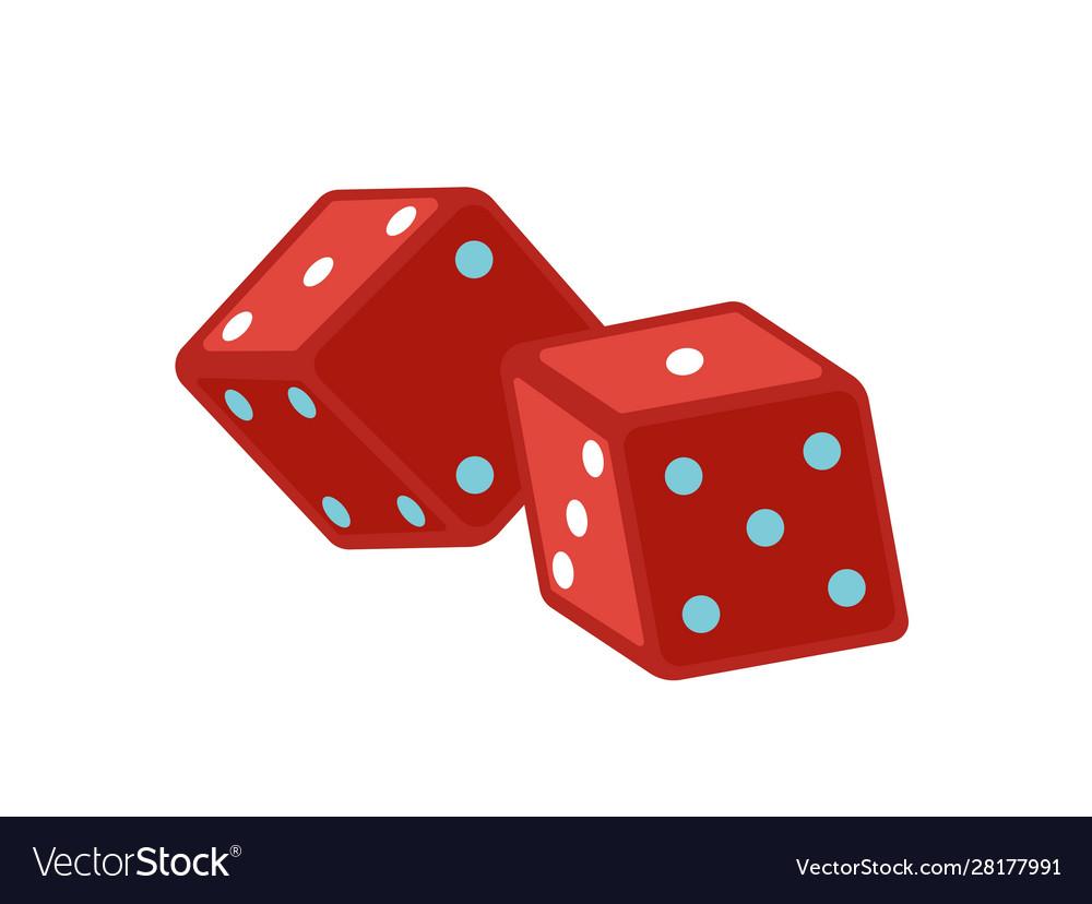 Red dice flat magic equipment