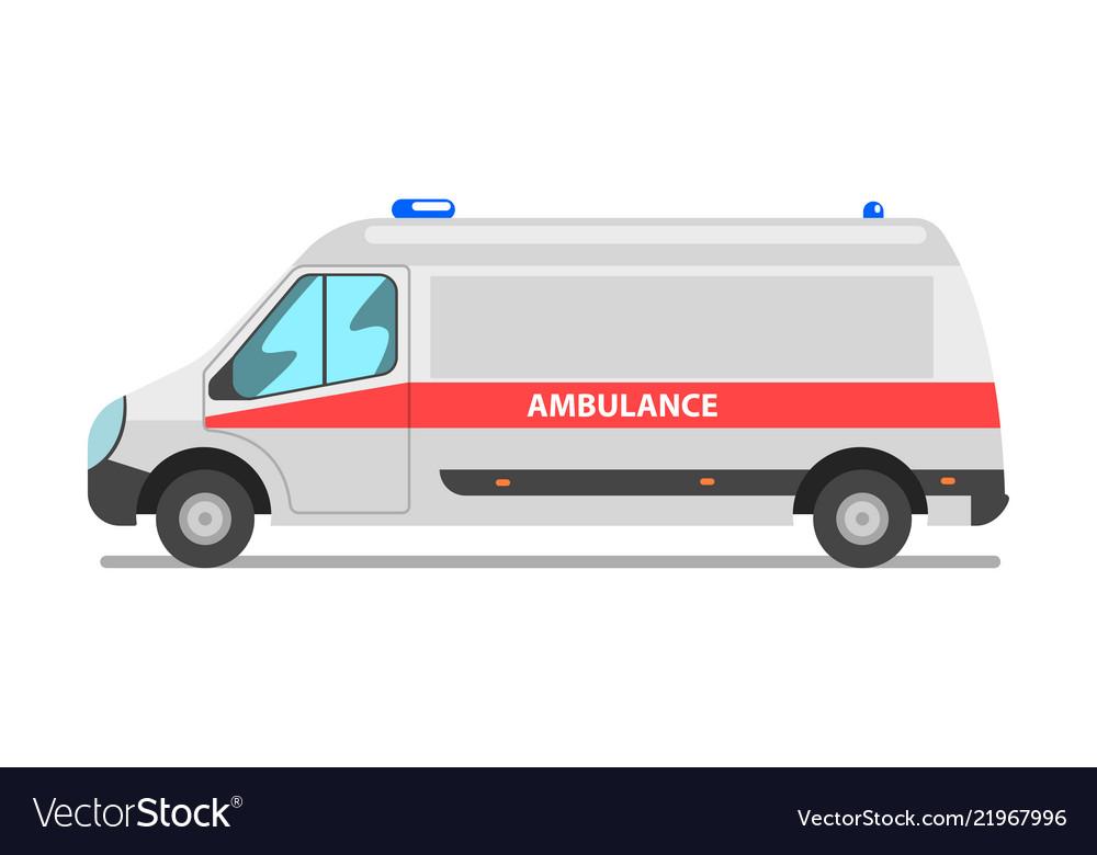 Ambulance car emergency medical van