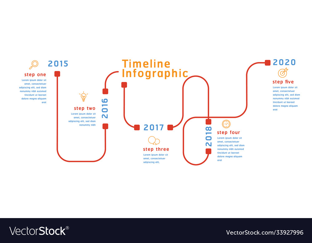 Business timeline workflow color infographics