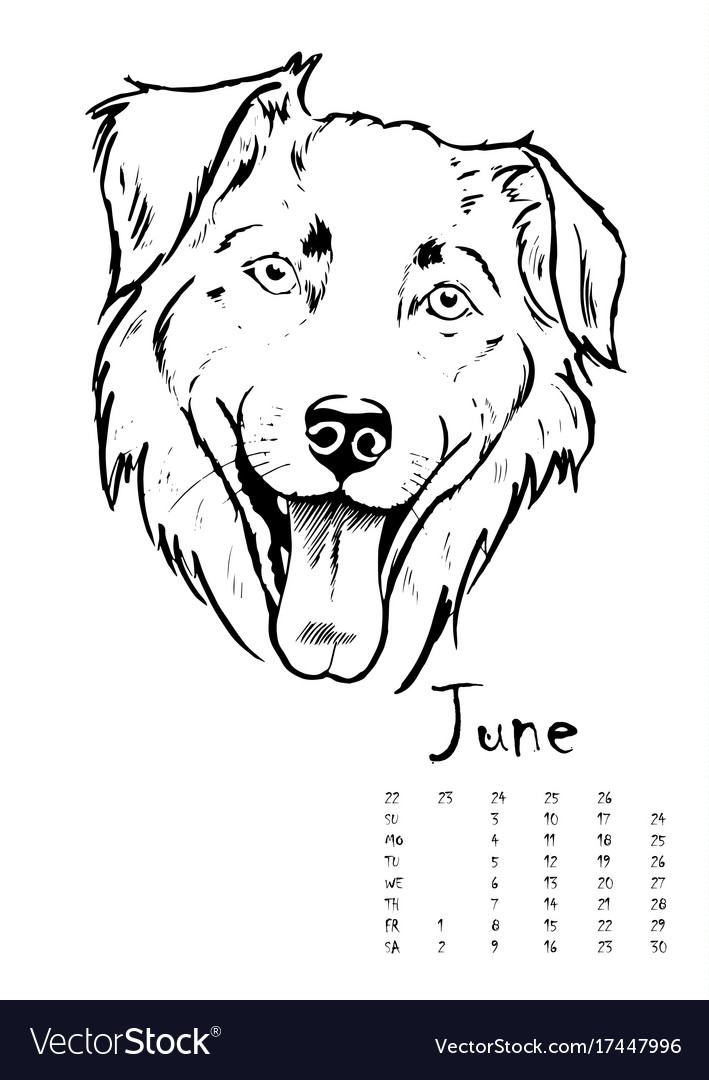 Calendar for 2018 with portraits of dogs