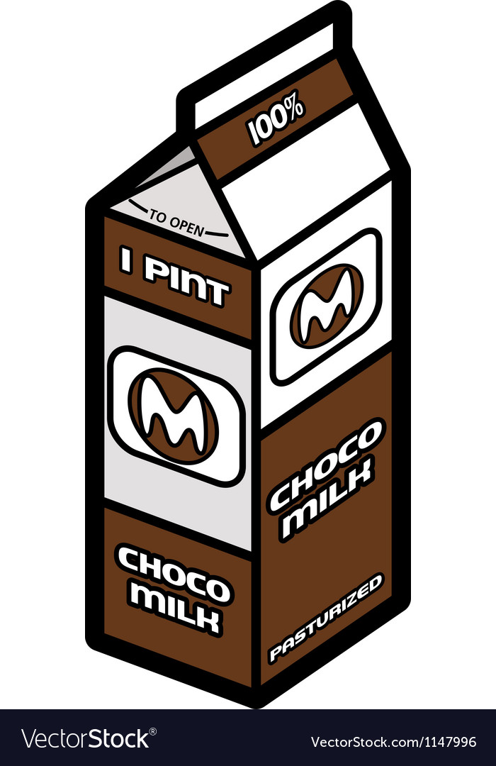Chocolate milk vector image