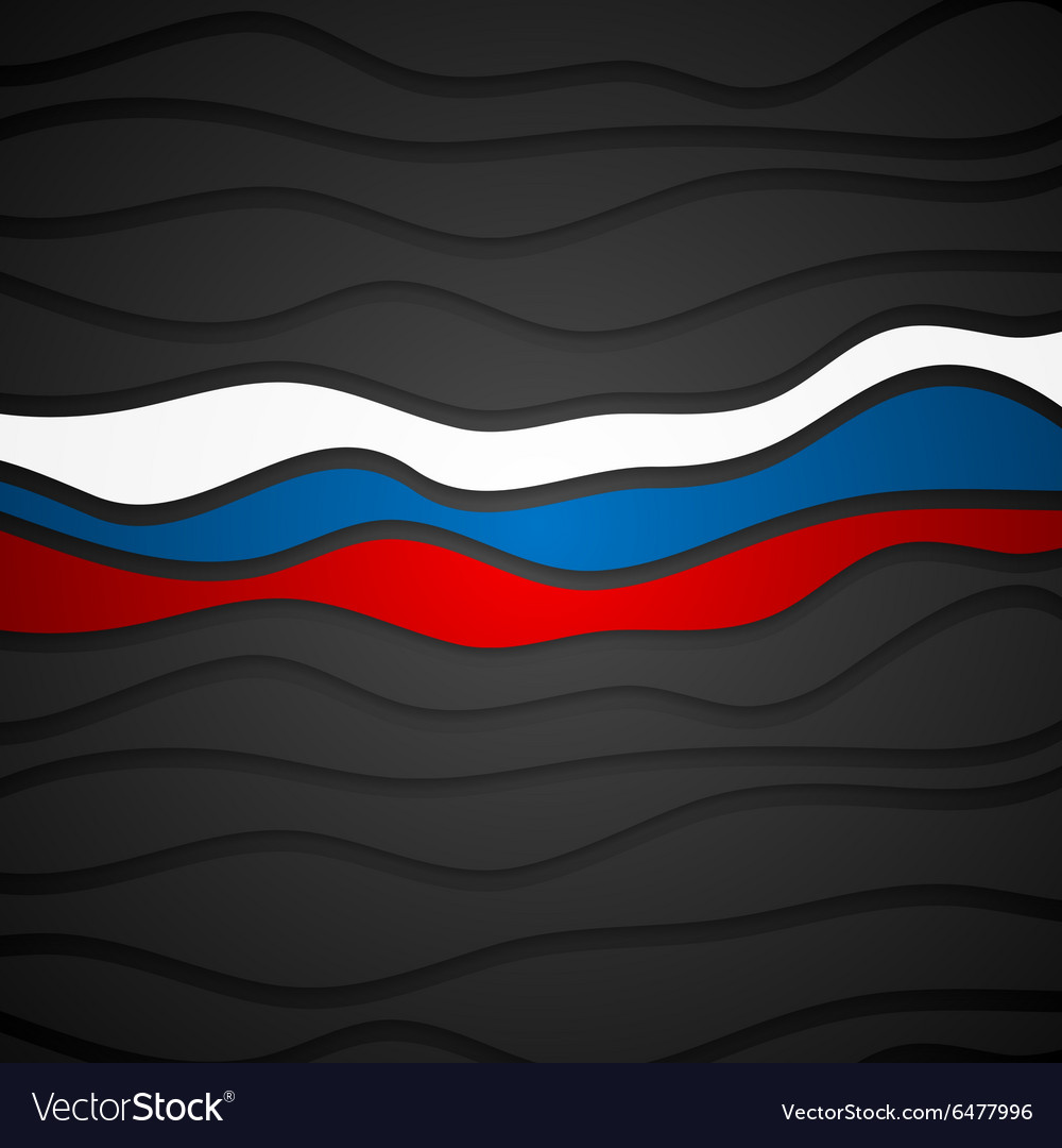 Corporate wavy bright abstract background Russian vector image