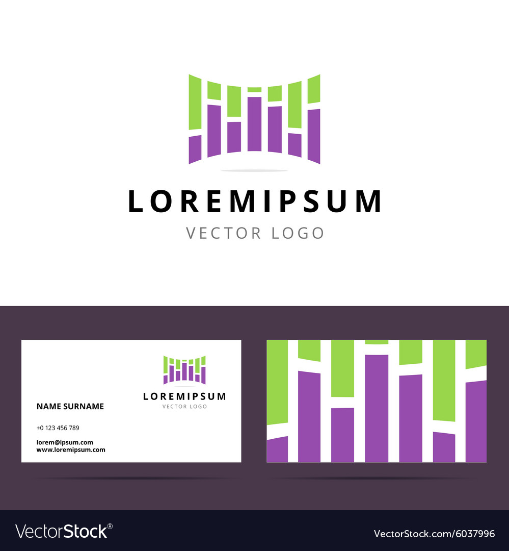 Logo and business card template for sound or