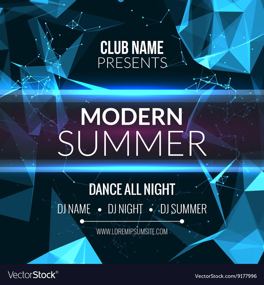 Modern Summer Club Music Party Template Dance