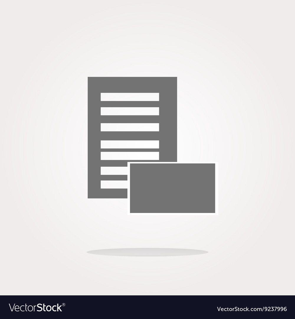 Newspaper icons set web button vector image