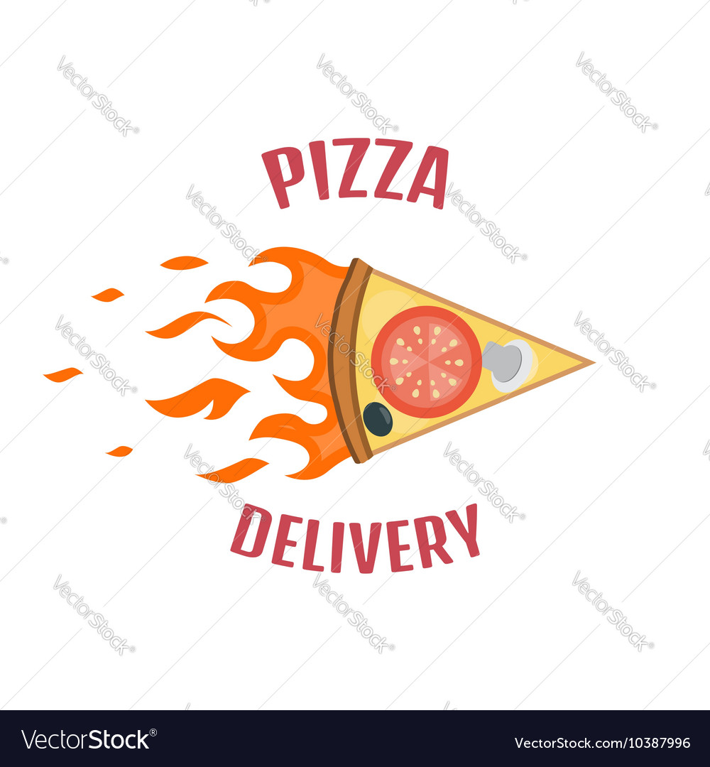 Pizza delivery logo Fast delivery logo one