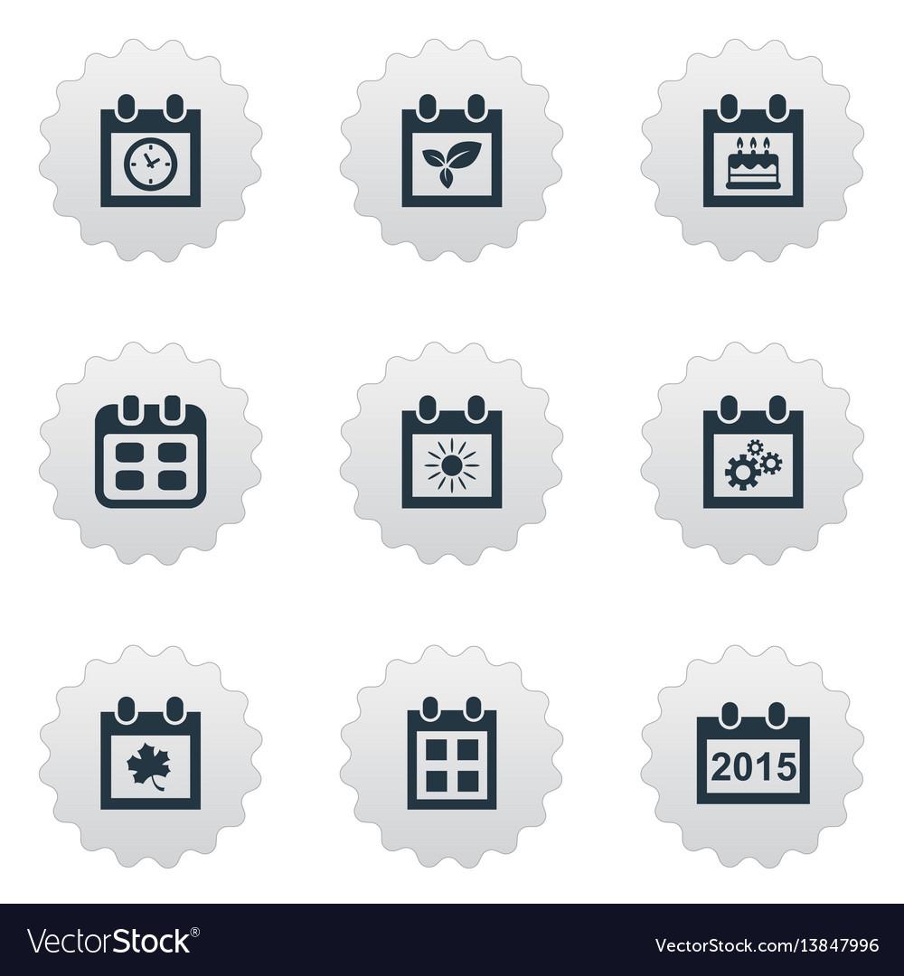 Set of simple calendar icons