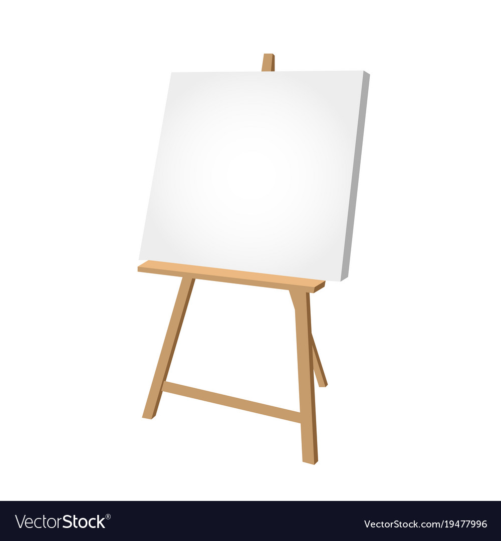 simple easel on white background artist vector image
