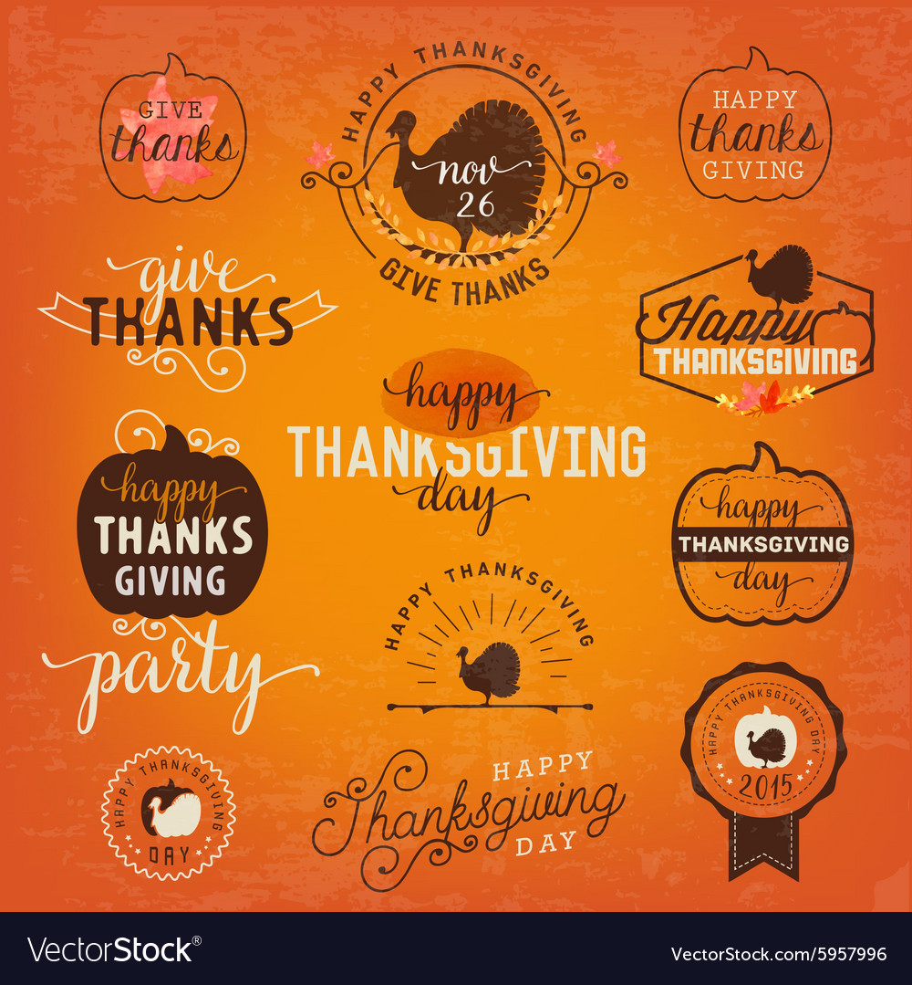 Thanksgiving Day Design Elements in Vintage Style