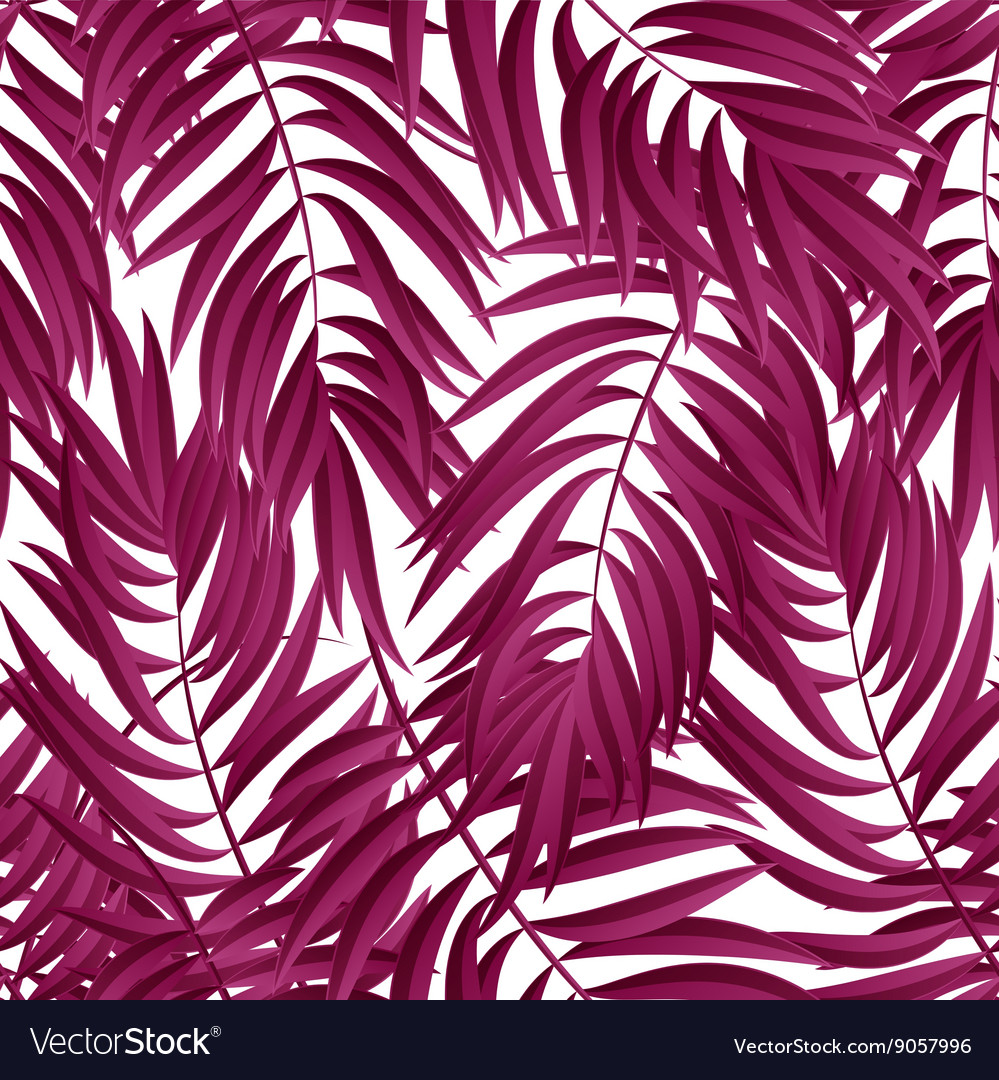 Tropical Palm leaves seamless