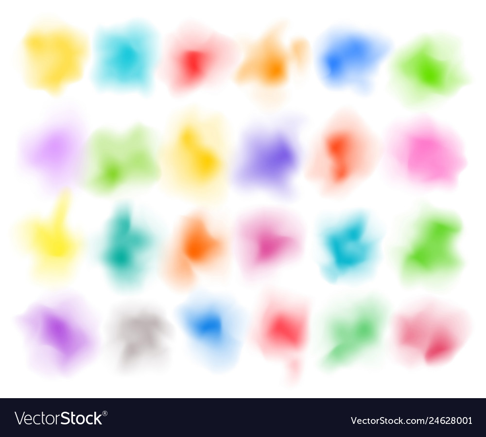 Abstract colorful powder clouds multicolored