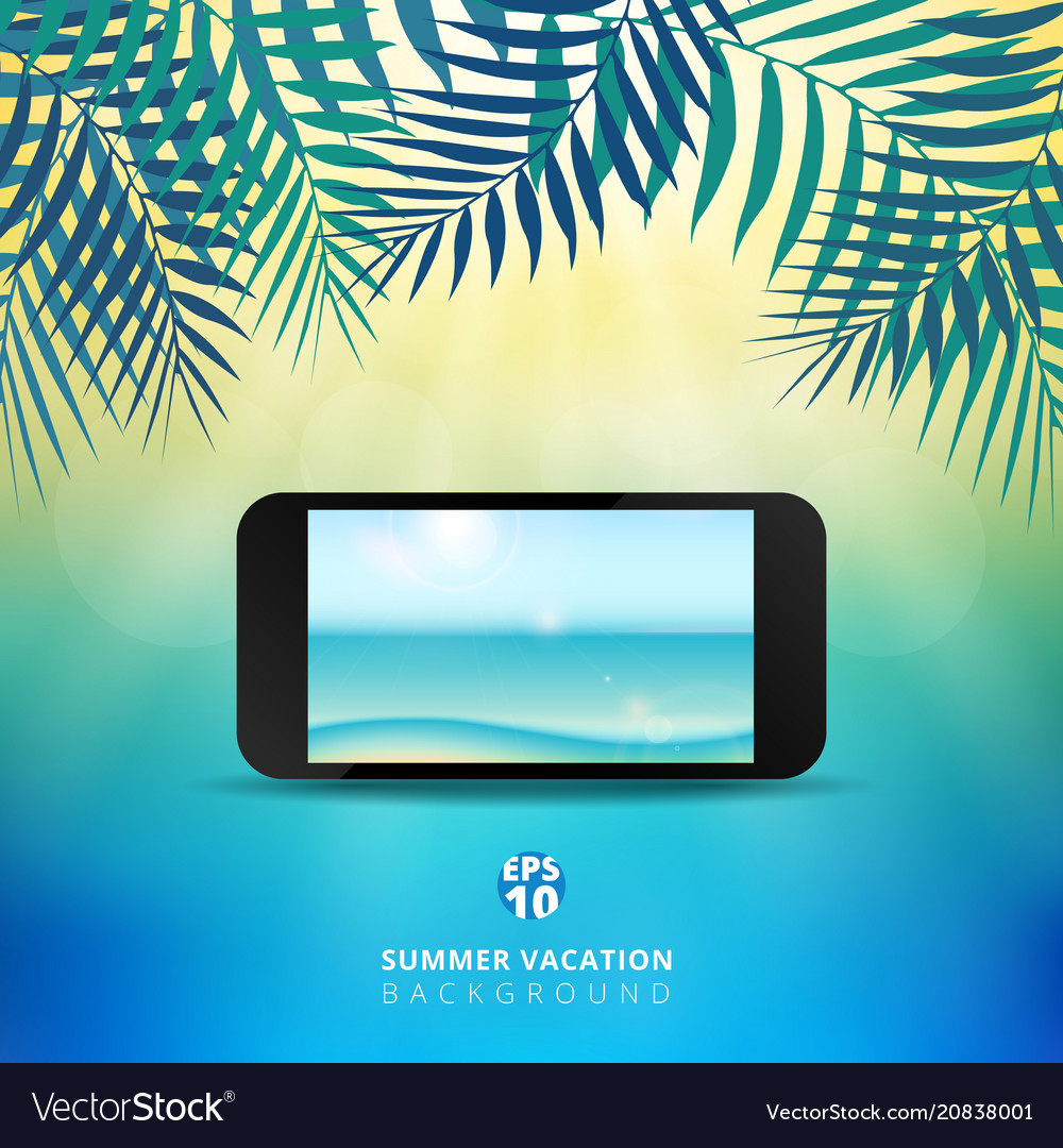 Abstract summer time background with mobile