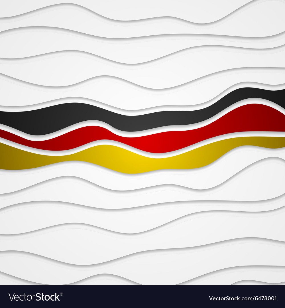 Corporate wavy bright abstract background German
