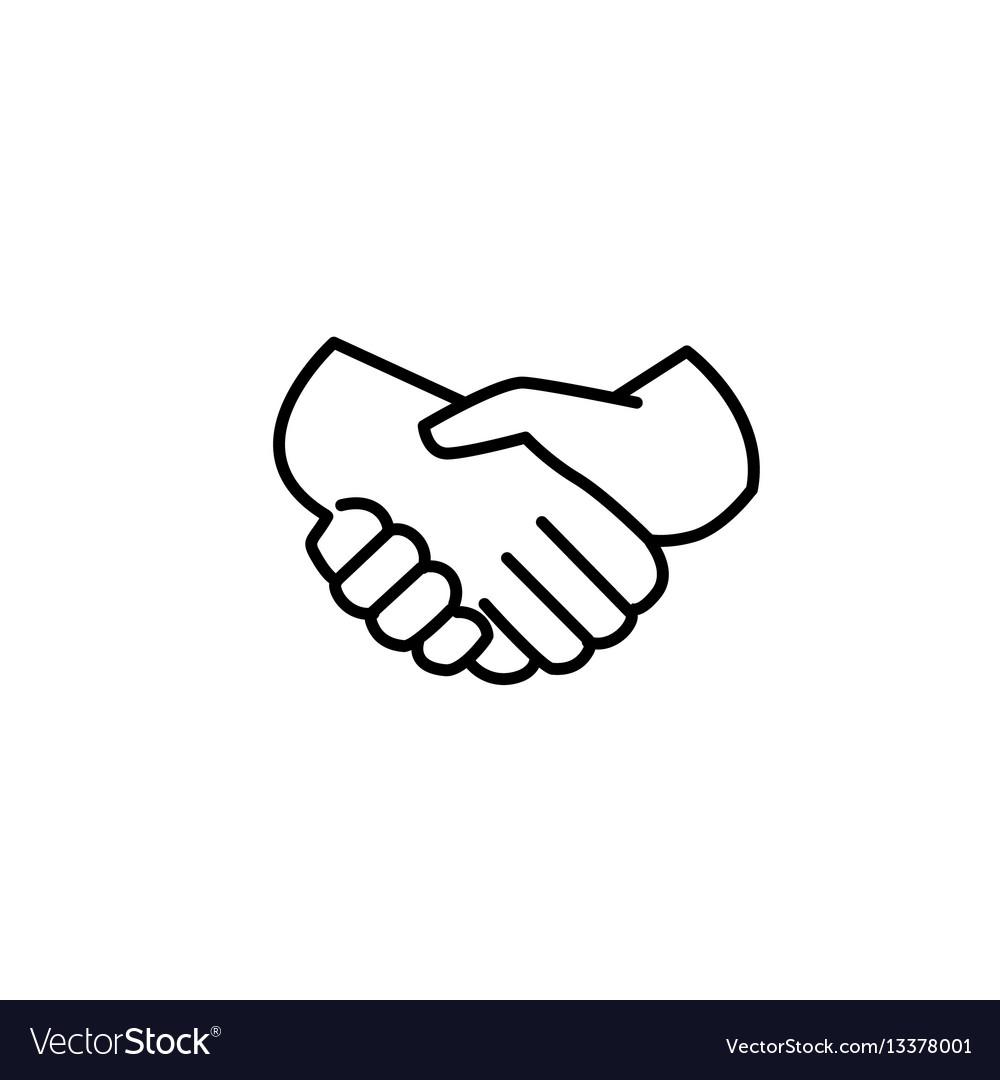 Handshake of business partners icon vector image