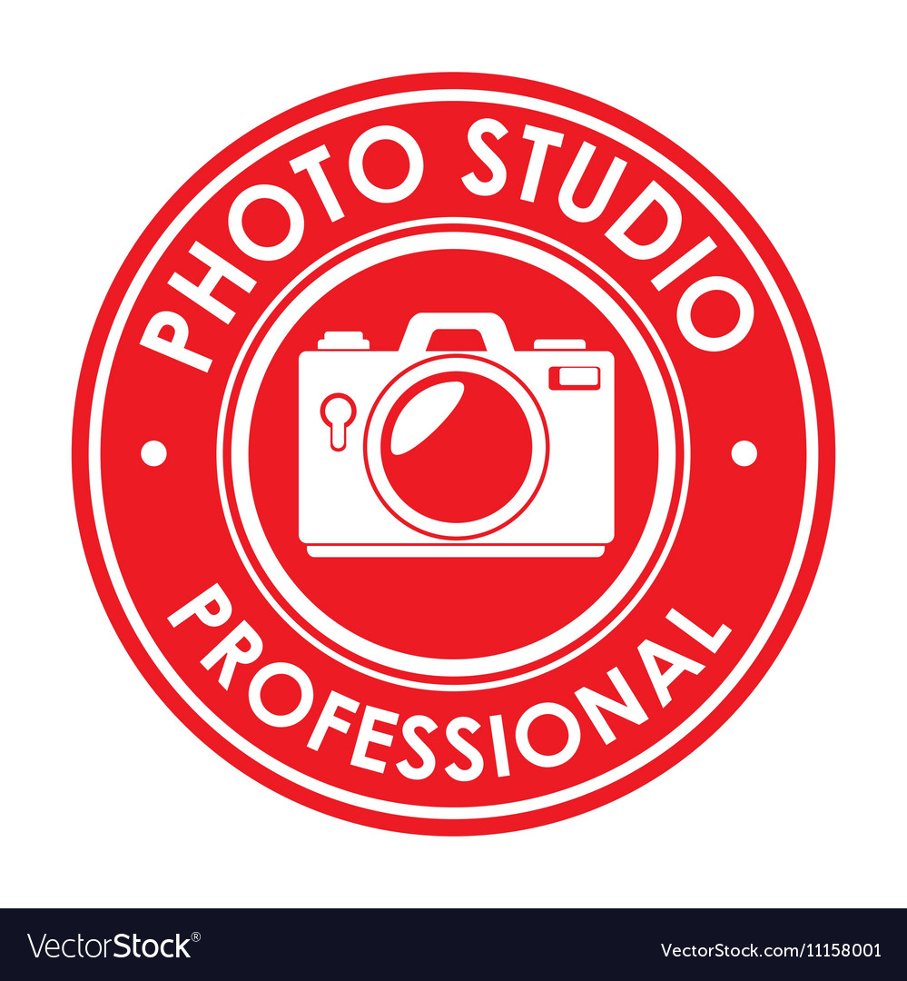 Photo studio professional emblem design graphic