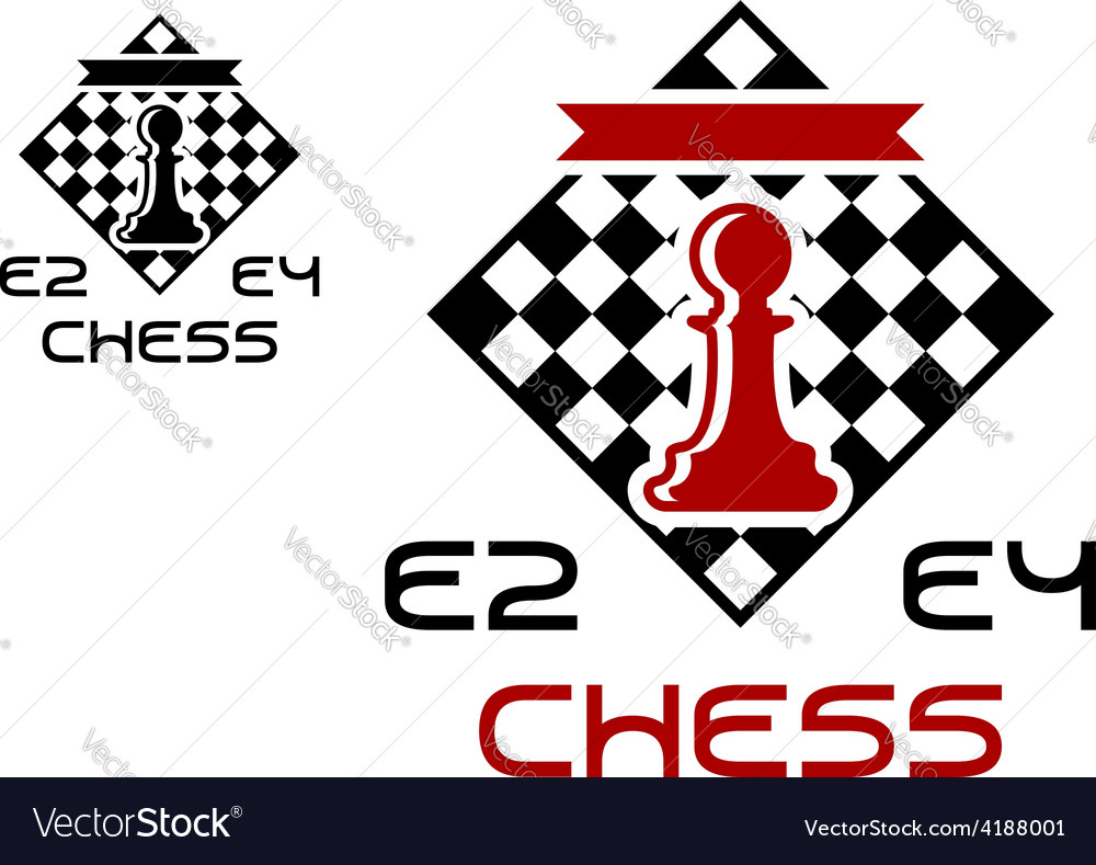 Red pawn on chess board