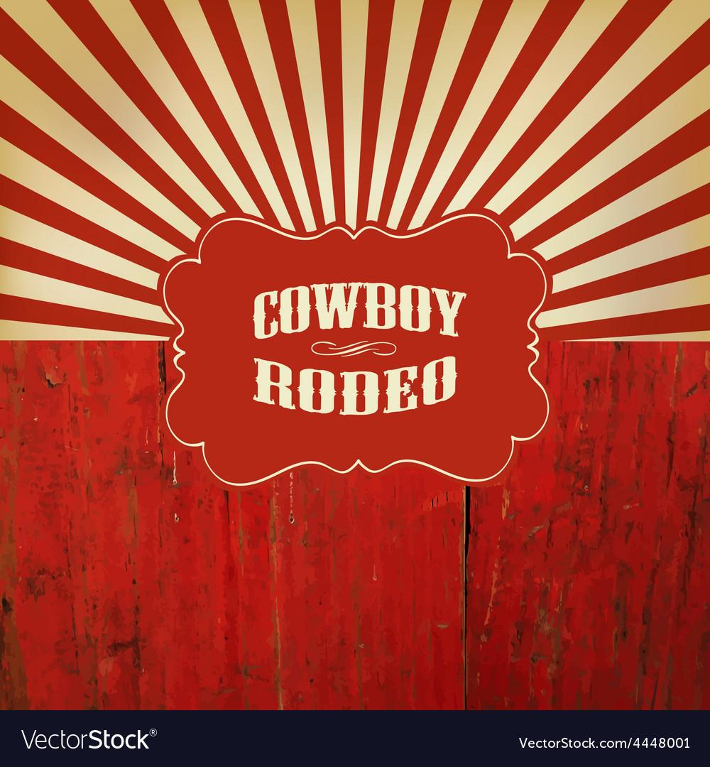 Rodeo retro background
