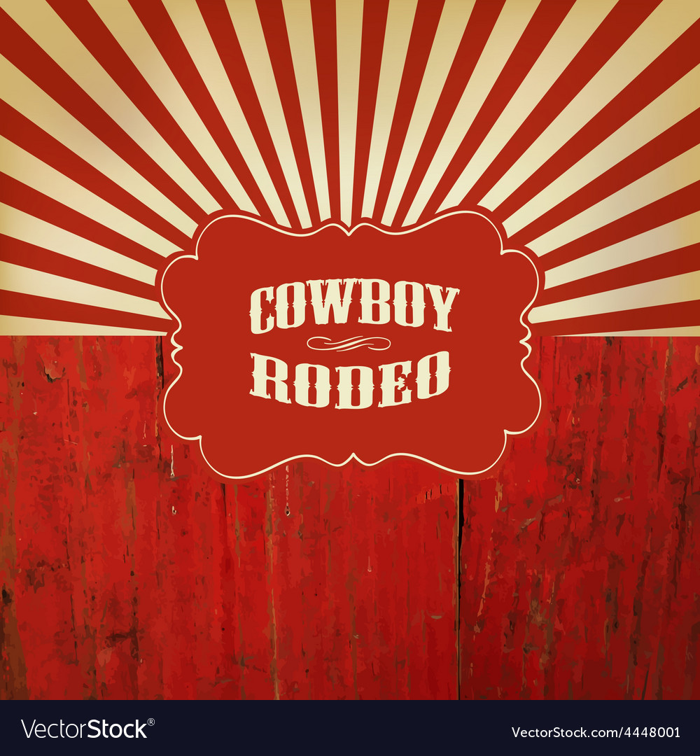 Rodeo retro background vector image